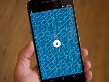 Launch Screen (splash screen) di Uber su Android